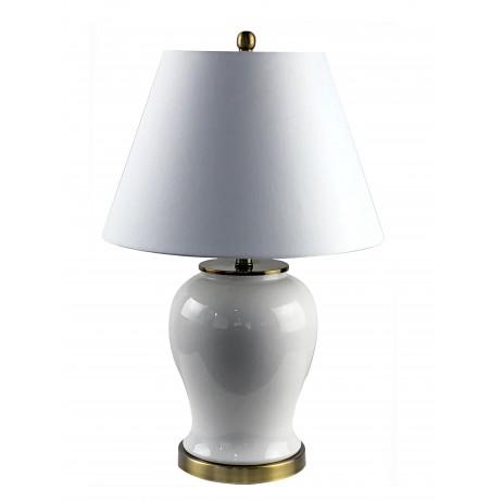 Lampa Ceramiczna Kremowa Focal Point Nowojorska Anerykańska Hampton